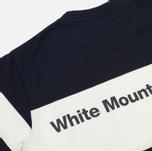 Мужская футболка White Mountaineering Multi Border Pocket Navy/White фото- 4