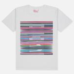 Мужская футболка White Mountaineering Printed Barcode White фото- 0