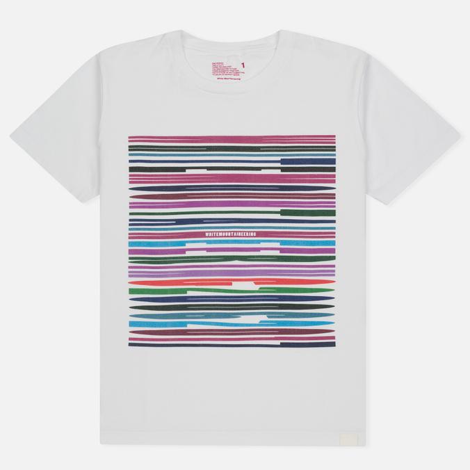 Мужская футболка White Mountaineering Printed Barcode White