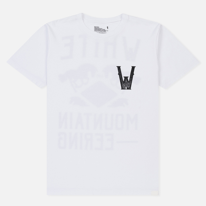 Мужская футболка White Mountaineering Printed Front W White