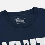 Мужская футболка White Mountaineering Printed Shark Navy фото- 1