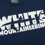 Мужская футболка White Mountaineering Printed Shark Navy фото- 2
