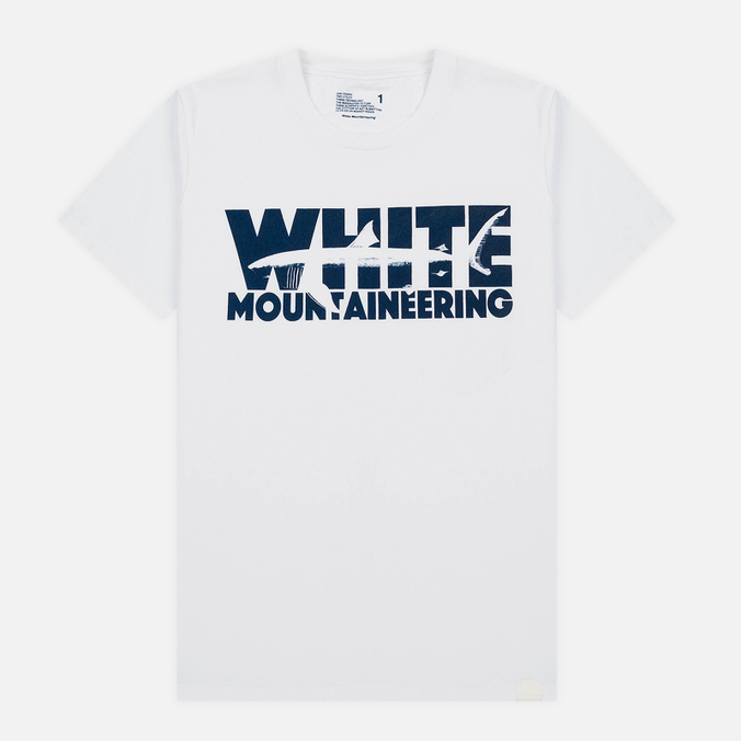 Мужская футболка White Mountaineering Printed Shark White
