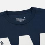Мужская футболка White Mountaineering Printed W Navy фото- 1