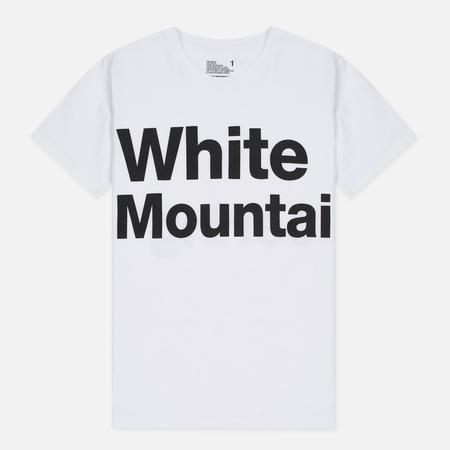 Мужская футболка White Mountaineering Printed White