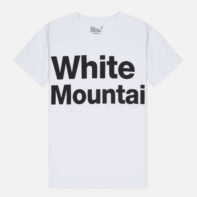 Мужская футболка White Mountaineering Printed White
