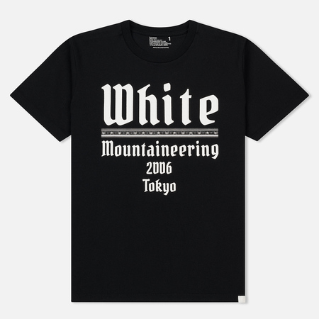 Мужская футболка White Mountaineering Printed White Mountaineering 2006 Tokyo Black