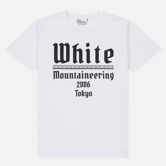 Мужская футболка White Mountaineering Printed White Mountaineering 2006 Tokyo White
