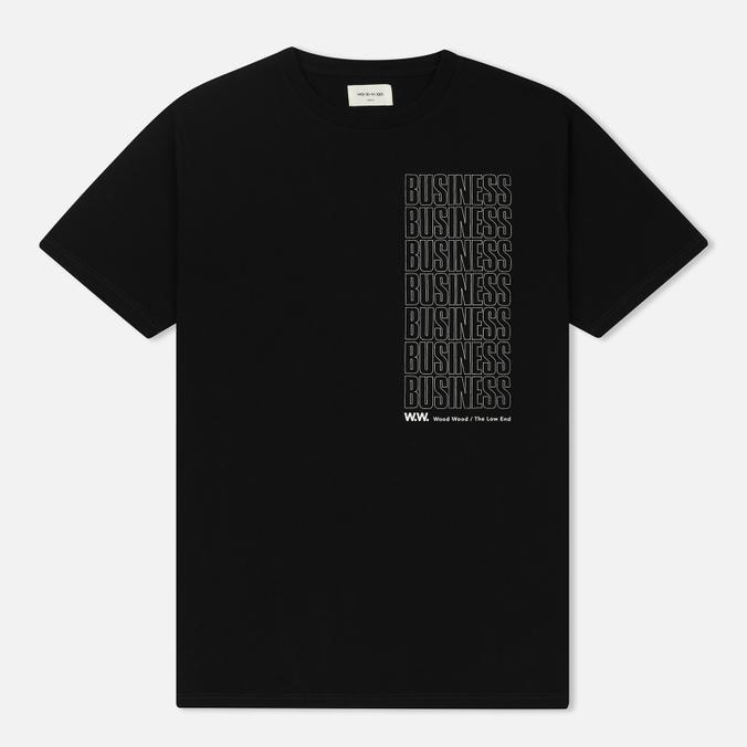 Мужская футболка Wood Wood Business Black