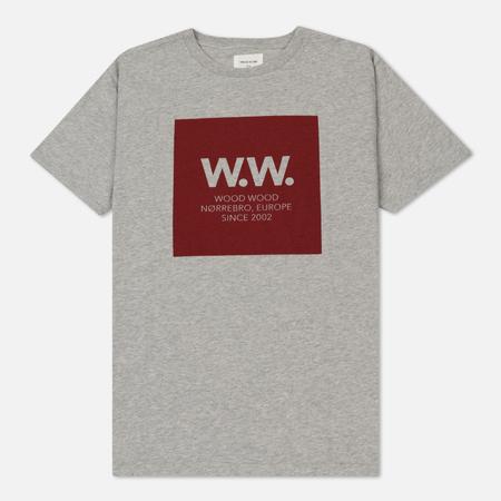 Мужская футболка Wood Wood WW Square Graphic Grey Melange