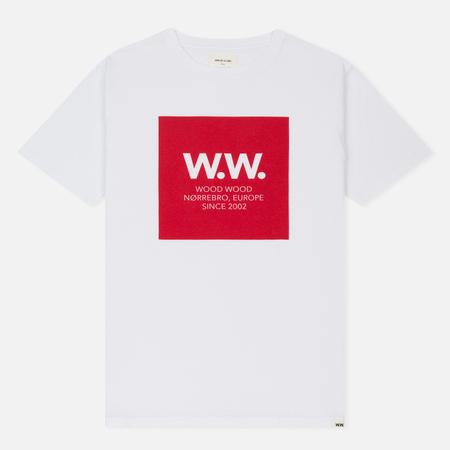 Мужская футболка Wood Wood WW Square White