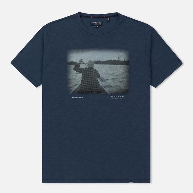 Мужская футболка Woolrich Heritage Mood Indigo