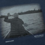 Мужская футболка Woolrich Heritage Mood Indigo фото- 2