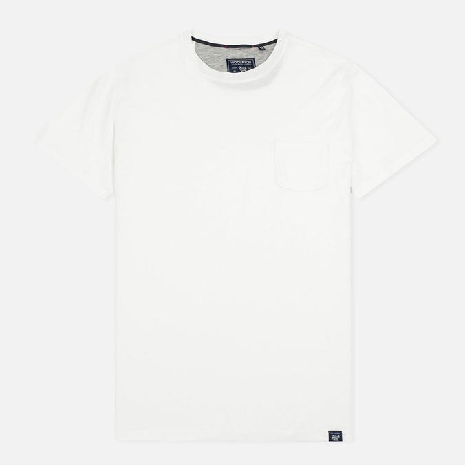 Мужская футболка Woolrich Pocket Slim White