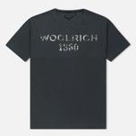 Мужская футболка Woolrich Print Woolrich 1830 Dark Navy фото- 0