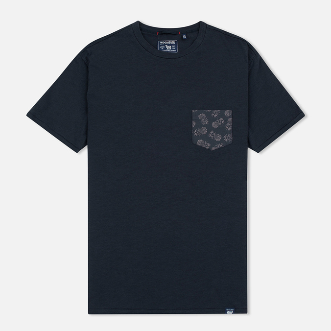 Woolrich Printed Pocket Men's T-shirt Black