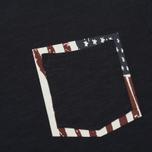 Мужская футболка Woolrich Printed Pocket Dark Navy фото- 2