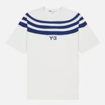 Мужская футболка Y-3 3-Stripes White/Blue фото- 0