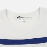 Мужская футболка Y-3 3-Stripes White/Blue фото- 1
