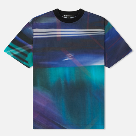 Мужская футболка Y-3 All Over Print Stripe Continuum Purple