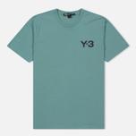Мужская футболка Y-3 Classic Logo Round Neck Vapour Steel фото- 0