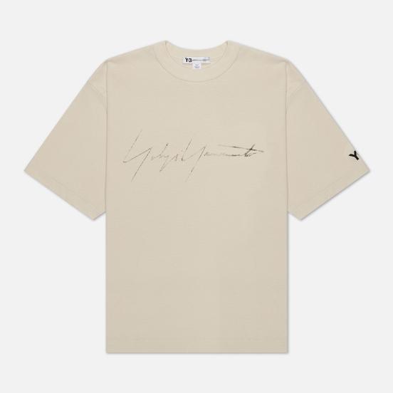 Мужская футболка Y-3 Distressed Signature Ecru