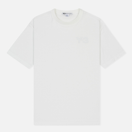 Мужская футболка Y-3 Double Logo Core White