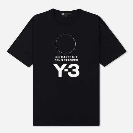 Мужская футболка Y-3 Stacked Logo Black/Core White