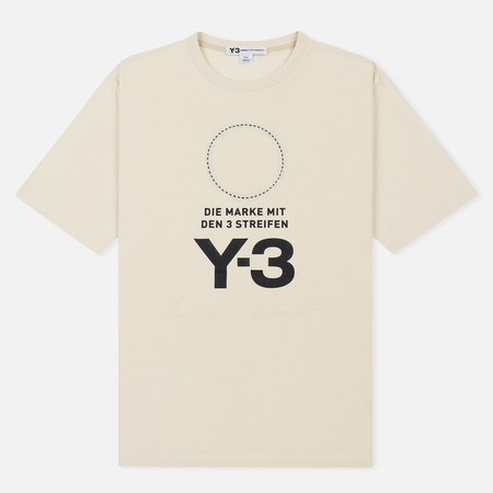 Мужская футболка Y-3 Stacked Logo Champagne/Black