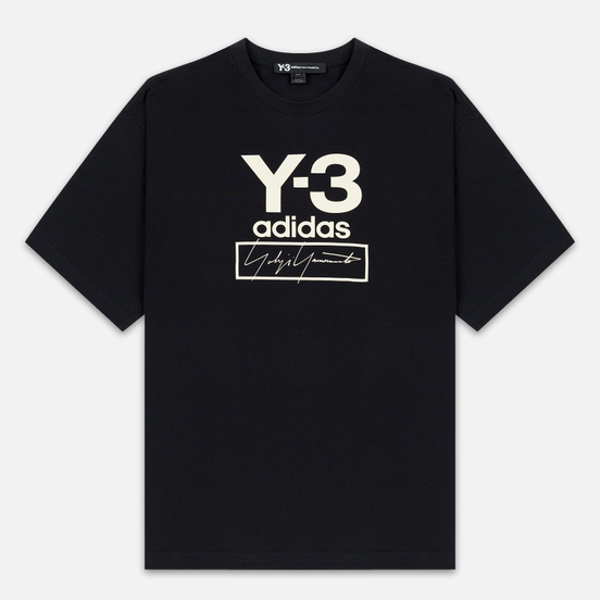 Мужская футболка Y-3 Stacked Logo FW19 Black