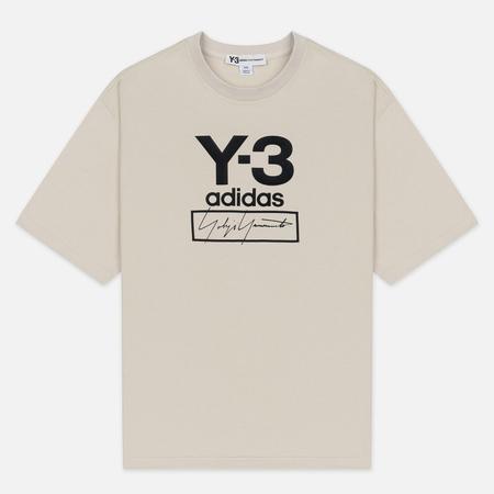 Мужская футболка Y-3 Stacked Logo FW19 Ecru
