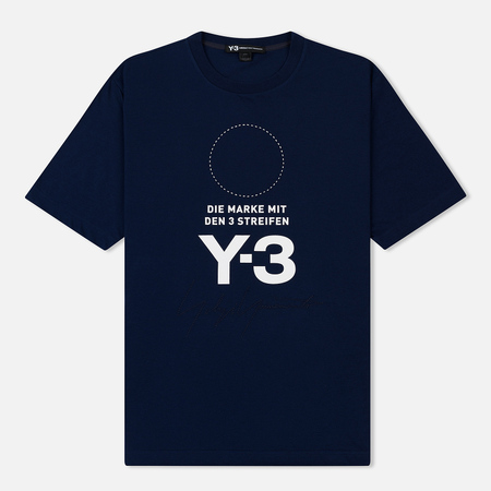 Мужская футболка Y-3 Stacked Logo Night Indigo/Core White