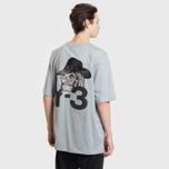 Мужская футболка Y-3 Yohji Skull Kumo Grey фото- 3