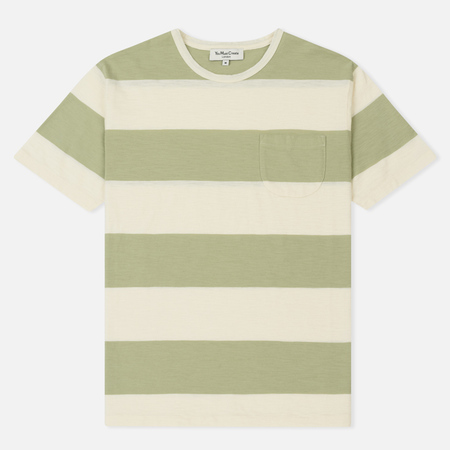 Мужская футболка YMC Baja Wide Stripe Slub Jersey Light Green