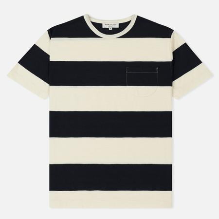 Мужская футболка YMC Baja Wide Stripe Slub Jersey Navy