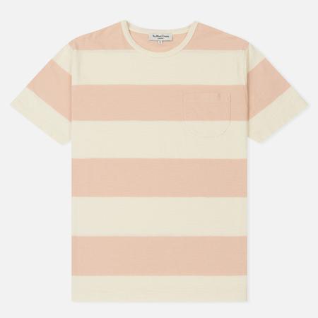 Мужская футболка YMC Baja Wide Stripe Slub Jersey Pink