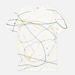 YMC Flick Paint Men's T-shirt White photo- 0