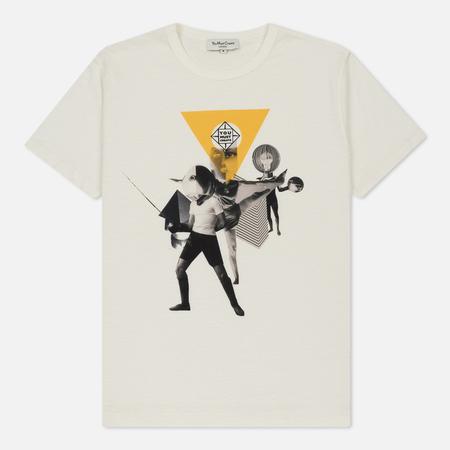 Мужская футболка YMC Focus Group Collage Ecru