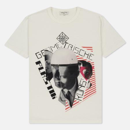 Мужская футболка YMC Geometrische Plastik Kunst Ecru