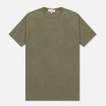 Мужская футболка YMC Television Raglan Olive фото- 0