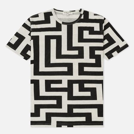 Мужская футболка YMC Maze Print Grey/Charcoal