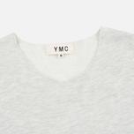 Мужская футболка YMC Raw Hem Grey фото- 1
