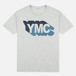 Мужская футболка YMC Shadow Logo Grey фото- 0
