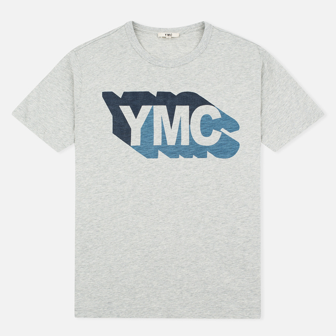 Мужская футболка YMC Shadow Logo Grey