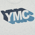 Мужская футболка YMC Shadow Logo Grey фото- 2