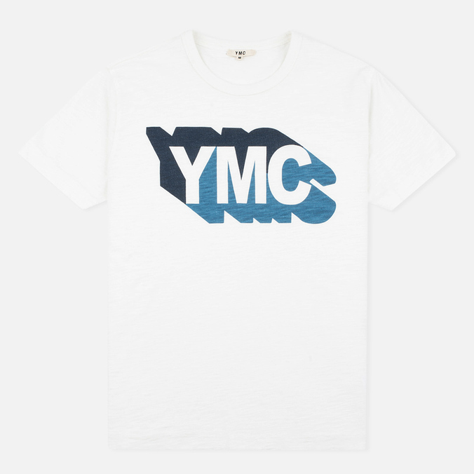 Мужская футболка YMC Shadow Logo White