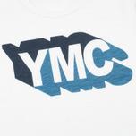 Мужская футболка YMC Shadow Logo White фото- 1