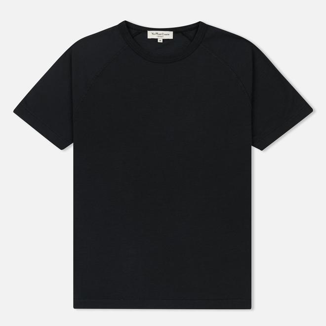 Мужская футболка YMC Television Raglan Garment Dyed Black