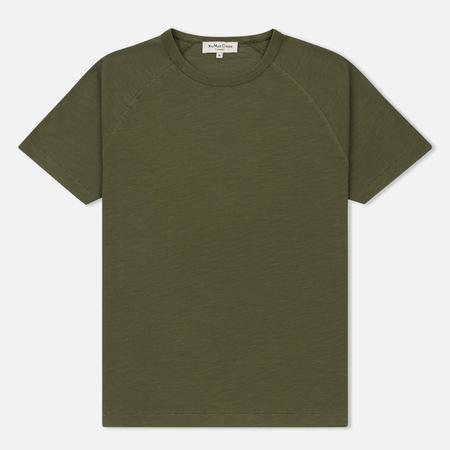 Мужская футболка YMC Television Raglan Garment Dyed Green