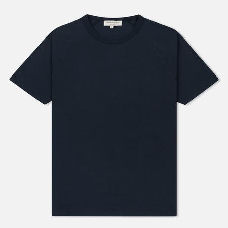 Мужская футболка YMC Television Raglan Garment Dyed Navy